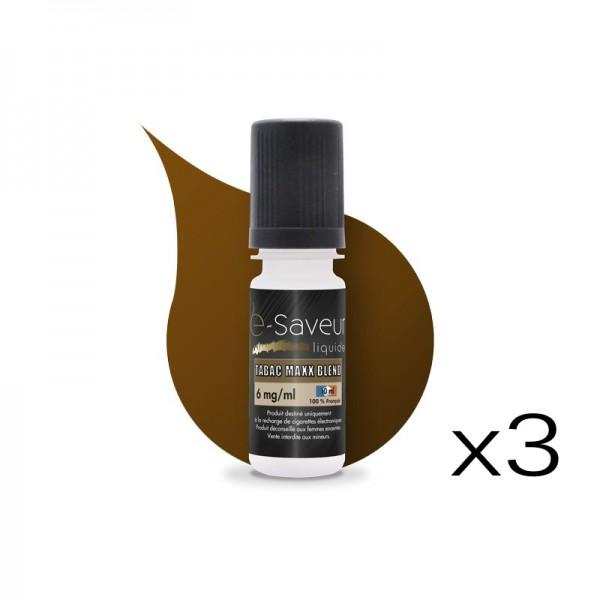 E-liquide Tabac Maxx Blend pack de 3