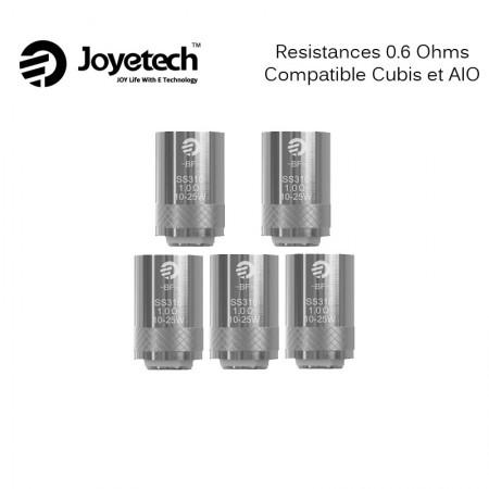 PACK DE 5 RESISTANCES CUBIS/AIO 0.6 OHMS JOYETECH