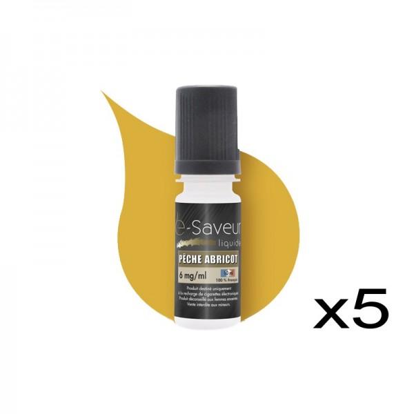 E-Liquide peche abricot pack de 3