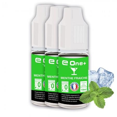 E-liquide Arôme Menthe Fraîche PACK DE 3 FLACONS