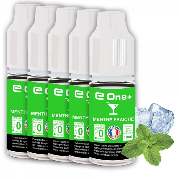 E-liquide Arôme Menthe Fraîche PACK DE 5 FLACONS