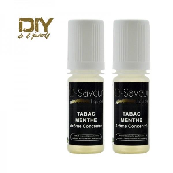 Arôme concentré Tabac Menthe 10ml pack de 2