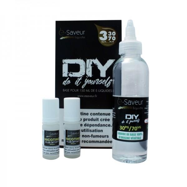 Pack DIY E-Saveur PGVG 30/70 Nicotine 3 mg/ml