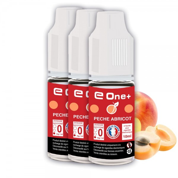 E-liquide Arôme Pêche Abricot PACK DE 3 FLACONS
