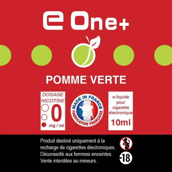 E-liquide Arôme Pomme Verte PACK DE 5 FLACONS