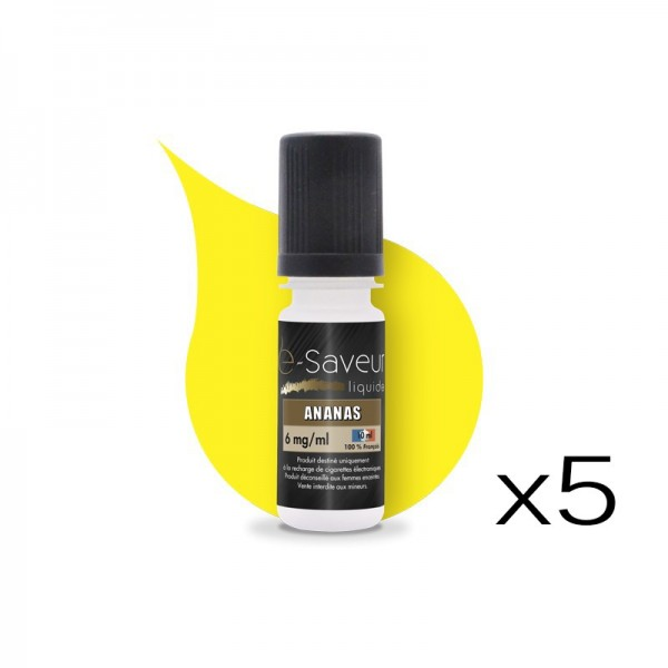 E-liquide Ananas pack de 5